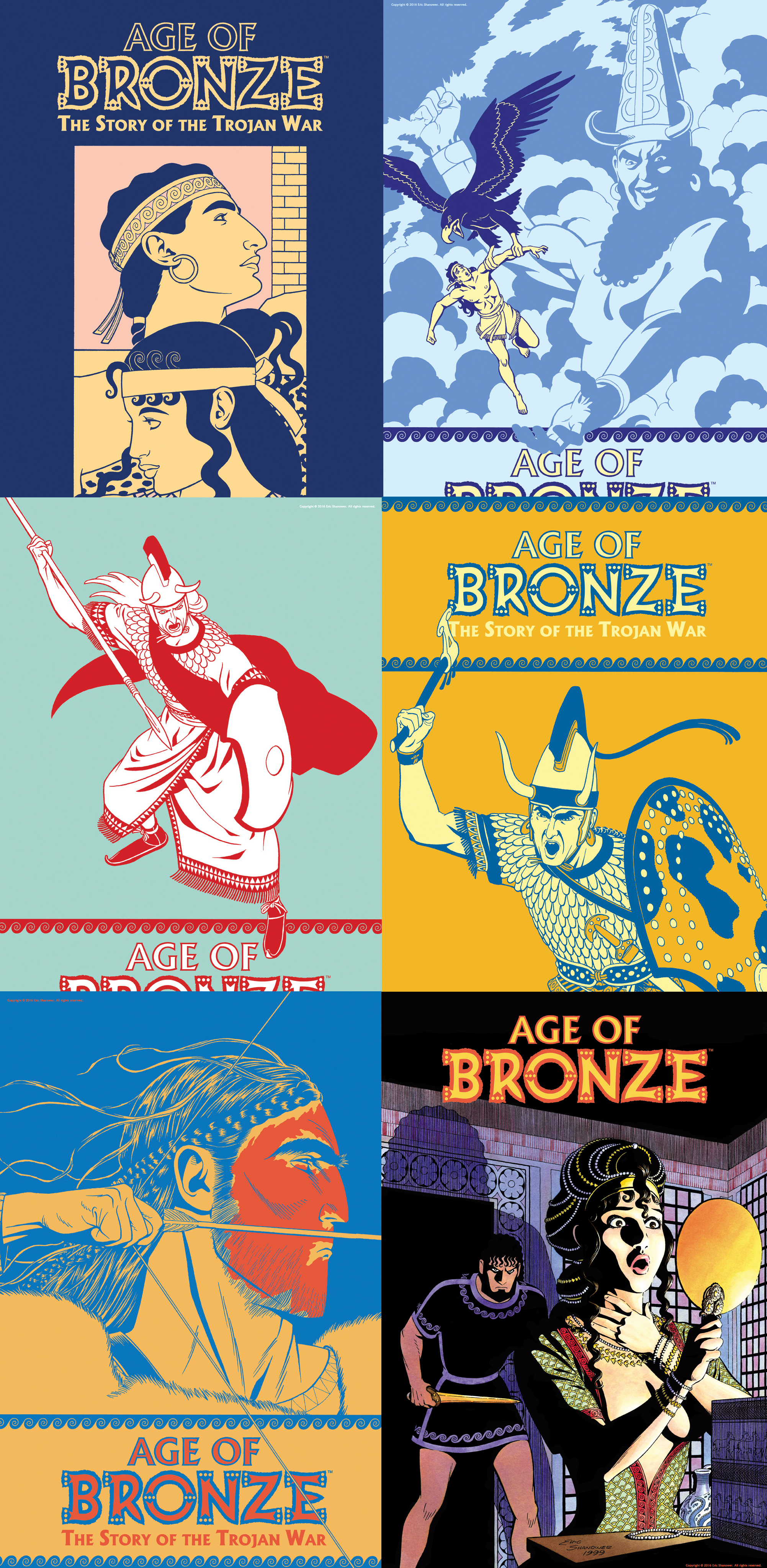 Age of Bronze Posters - Set of Six